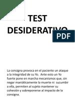 TEST DESIDERATIVO