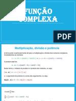 Matematica Aplicada I_FUNÇÃO COMPLEXA - parte 2