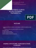 Manifestările clinice bucale în anemii