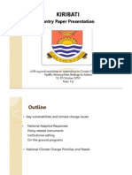 An Overview of National Climate Change Strategies and Priorities in Kiribati