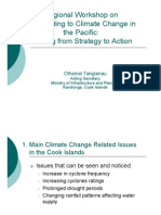 An Overview of National Climate Change Strategies and Priorities in Cook Islands