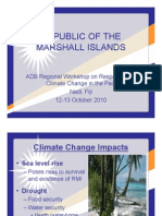 An Overview of National Climate Change Strategies and Priorities in the Republic of Marshall Islands