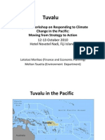 An Overview of National Climate Change Strategies and Priorities in Tuvalu