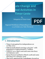 An Overview of National Climate Change Strategies and Priorities in Timor-Leste