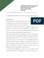 De Pascuale Consideraciones T-C de Campo Didáctico