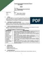 SILABO JOYERÍA Y FUNDICIÓN ARTÍSTICA (V) 2020-I