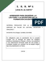 Manual para Taller LEO I Sánchez