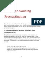5 Tips for Avoiding