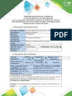 Guía de actividades y Rubrica de Evaluación - Tarea 2-Conceptualizacion del curso. Elaborar mapa conceptual sobre estimación de erosión del suelo