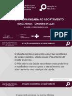ATENÇÃO HUMANIZADA AO ABORTAMENTO
