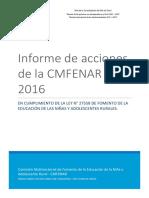 Informe Niña Rural 2016