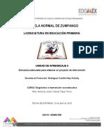 Reflexion de estructura adecuada para la elaboracion de un proyecto de intervecnión_Nery Rodriguez Castillo