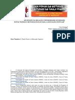 (XXI Fórum Paulo Freire) Artigo Pesquisa Participante e Extensão Universitária