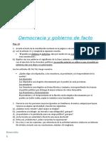 Democracia y gobierno de facto 2