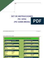 --------SET DE INSTRUCCIONES DEL PIC 16F84