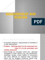 BRM Measurement and Scaling