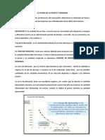 LA TEORIA DELA OFERTA Y DEMANDA resumen