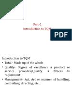 TQM unit 1