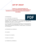 01 - LEY Nº 29227 - Divorcio en Municipalidades y Notarias