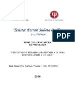 Psicologia TESIS de GRADO Ferrari Julieta 2018- Enfoque Sistemico
