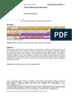 Escala de alimentación emoiconal