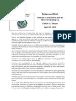 Thayer Vietnam- Coronavirus and the Risks of Opening Up