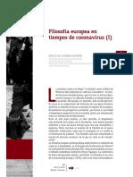 Filosofía europea en tiempos de coronavirus Revista Izquierda Sergio De Z..pdf