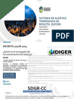 Sistema de alertas tempranas de Bogotá  (SATAB) 1