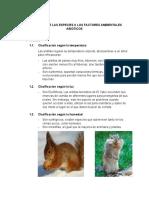 ADAPTACION DE LAS ESPECIES A LOS FACTORES AMBIENTALES ABIOTICOS