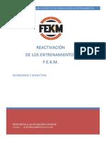 PLAN DIRECTOR DE REANUDACIÓN DE ENTRENAMIENTOS.
