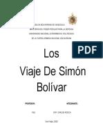 Los Viaje De Simón Bolívar