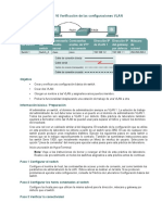 Práctica de laboratorio 16 Verificación de las configuraciones VLAN