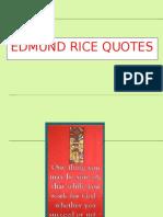 Edmund Rice Quotes Ppt
