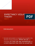 Lesson 6 Expectancy Violations Theory
