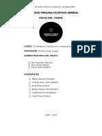 PROYECTO DE TECNOLOGÍA DE INFORMACIÓN Y COMUNICACIÓN EN SALUD