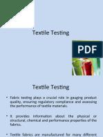 Textile testing.