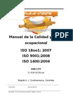 MANUAL DE CALIDAD PAN CITY
