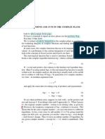 Branch cuts - complex analysis