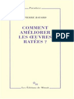 Pierre Bayard - Comment ameliorer les oeuvres ratees
