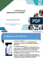 Codificación COVID HISMINSA 13042020