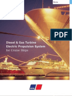 MTU Diesel & Gas Turbine Electric Propulsion for Cruise Ships