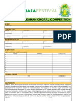 Minasa Festival Choral Competition Form