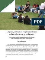 Lógicas, enfoques y epistemologías de la educación y la pedagogía