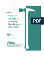 NIOSH a Guide to Selecting Non-Powered Hand Tools