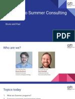20190325 - Summer Program prep