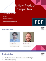 20190516- Interview Preparation Series - Session 6 - New Product Launch _ Competitive Response
