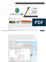 Настройки Simplify3D для 3D принтера