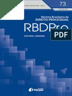 Revista Brasileira de Direito Processual – RBDPro. N. 73