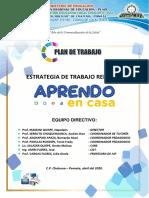 Plan de Trabajo Remoto IES. Simón Bolívar de Chatuma - Pomata.