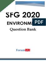 SFG 2020 Environment Question Bank f